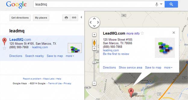 LeadMQ on Google Maps